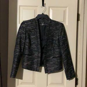 Shiny black blazer